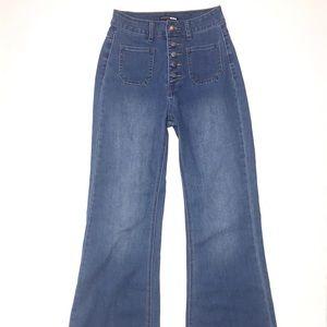 Fashion Nova Denim Bell Bottom Flared Jeans